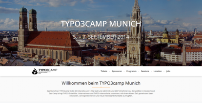 Website TYPO3camp Munich | 5. bis 7. September 2014 | Willkommen beim TYPO3camp Munich
