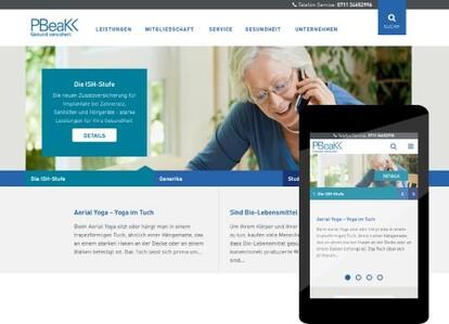 Screenshot der Website pbeakk.de im Desktop und Mobile.
