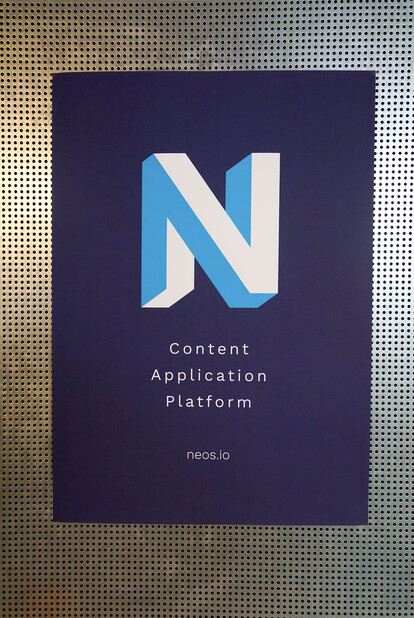 Plakat neos.io Content Application Platform