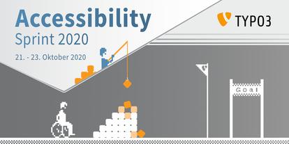 Banner TYPO3 Accessibility Sprint 2020, 21. - 23. Oktober 2020