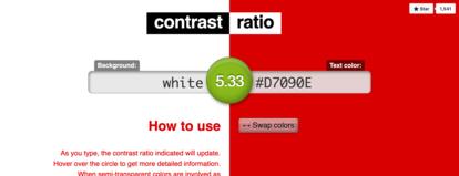Screenshot Online-Werkzeug contrast.com